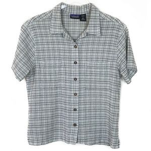 Patagonia Organic Cotton Short Sleeve Plaid Shirt